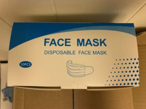 Face mask, box of 50