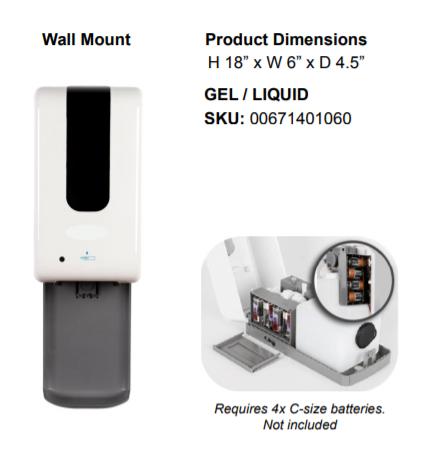 Wall mount hand sanitizer